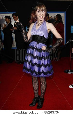 LOS ANGELES - APR 21: Allisyn Ashley Arm at the premiere of Walt Disney Pictures' 'Prom' at the El Capitan in Los Angeles, California on April 21, 2011.
