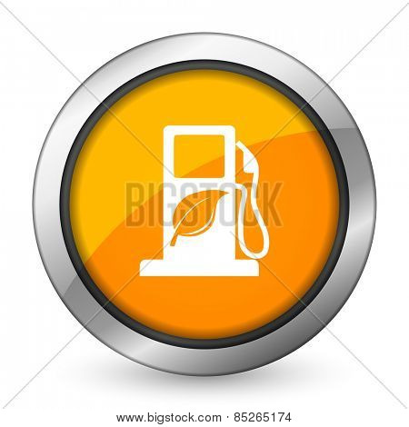 biofuel orange icon bio fuel sign