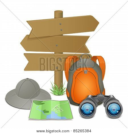 Vector Camping Accessories Vector Camping Accessories Concept