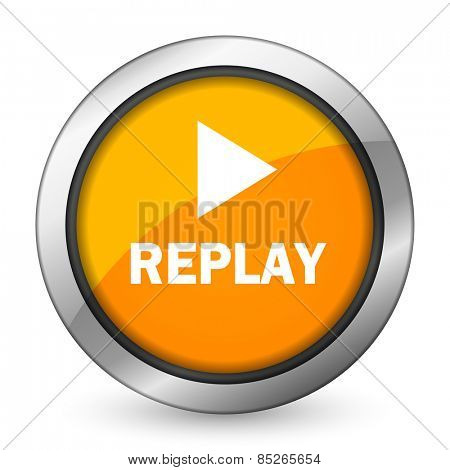 replay orange icon