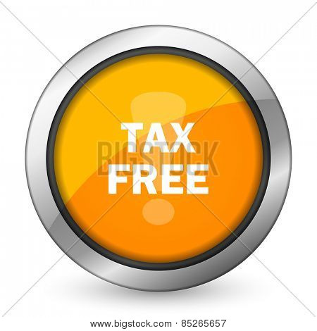 tax free orange icon