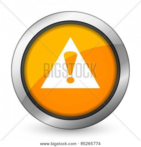 exclamation sign orange icon warning sign alert symbol