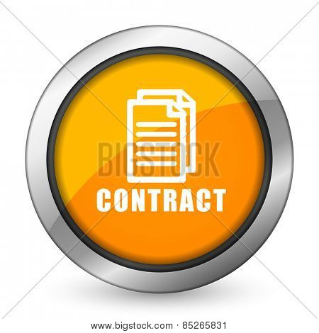 contract orange icon