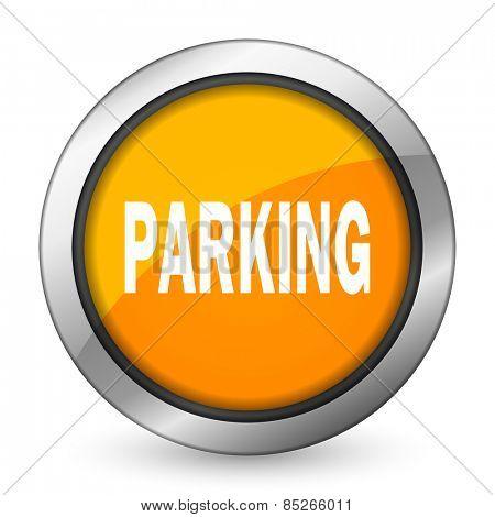 parking orange icon