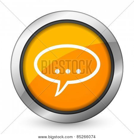 forum orange icon chat symbol bubble sign