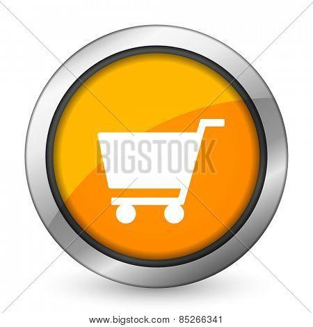 cart orange icon shop sign