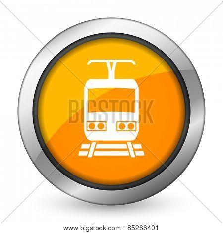 train orange icon public transport sign