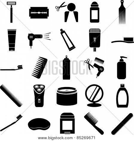 grooming symbols set