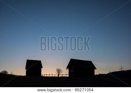 Farm landscape.