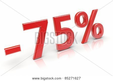 75% Discount