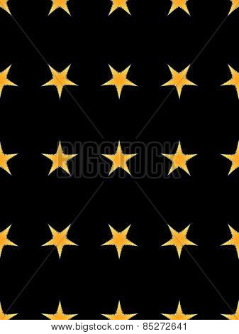 Seamless decorative pattern with a stars