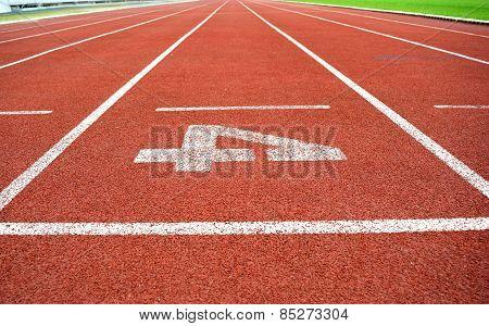 Athletics Stadium Running track number 4