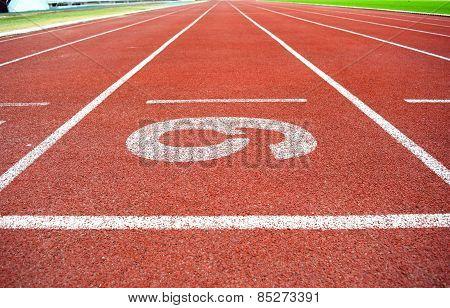 Athletics Stadium Running track number 6