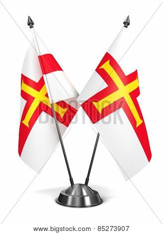 Guernsey - Miniature Flags.