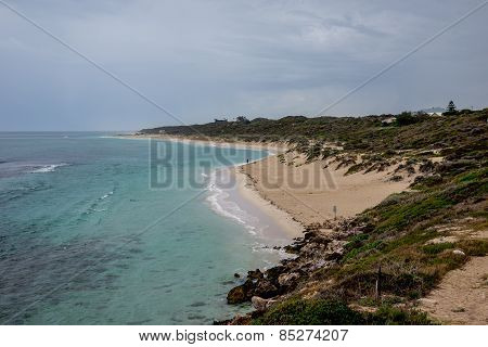 A View Of Yanchep Beach In Cloudy Weather, Western Australia