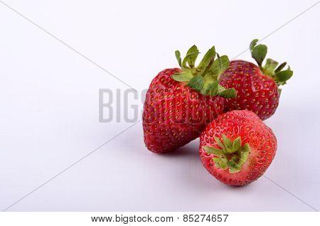 Trio of strawberries