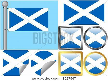 Scotland Flag Set