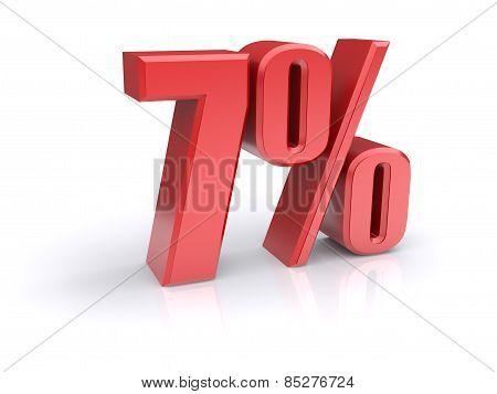 7 Percent Sign