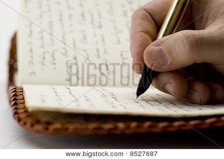 Escritura en libro viejo