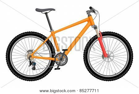 Vector orange bike