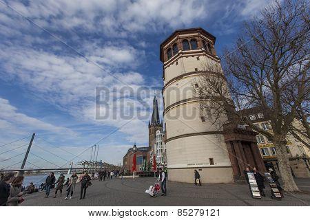 Schlossturm In Dusseldorf, Germany