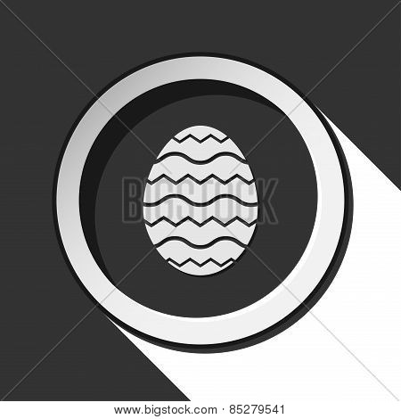 Grey Button With Easter Egg