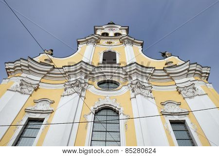 GRAZ, AUSTRIA - JANUARY 10, 2015: Barmherzigenkirche church in Graz, Styria, Austria on January 10, 2015.
