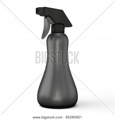 Template Black Spray Bottle Mockup For Your Design