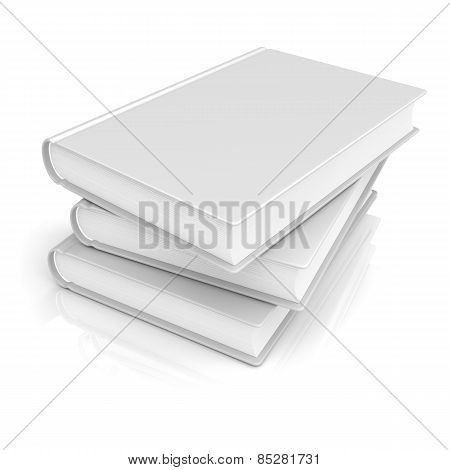 White Blank Books