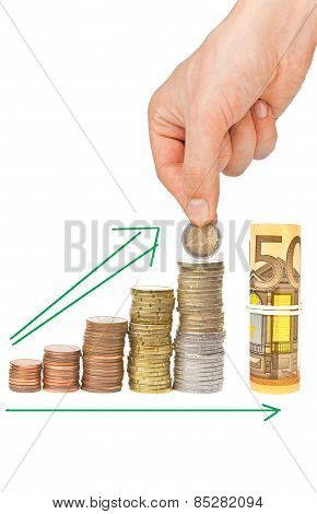 Growing Savings Concept