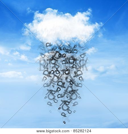 Cloud and money rain