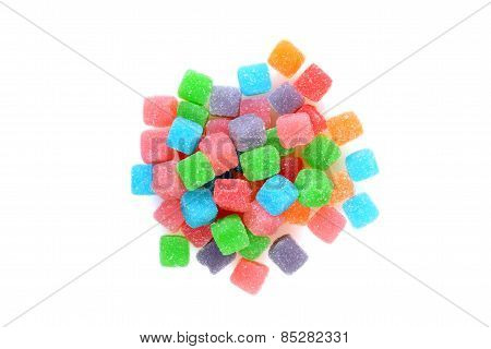 top view sour chewy candy