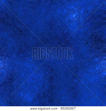 Blue Foil Seamless Background Texture