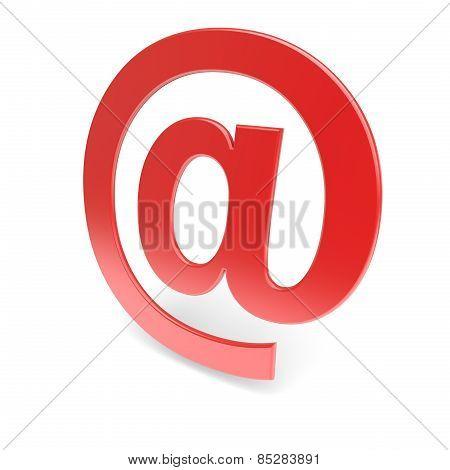 Red @ Symbol