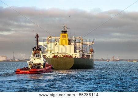 Ship With Tug