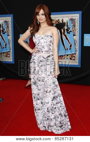 LOS ANGELES - APR 21: Debby Ryan at the premiere of Walt Disney Pictures' 'Prom' at the El Capitan in Los Angeles, California on April 21, 2011.