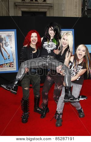 LOS ANGELES - APR 21: Cherri Bomb (Band) at the premiere of Walt Disney Pictures' 'Prom' at the El Capitan in Los Angeles, California on April 21, 2011.