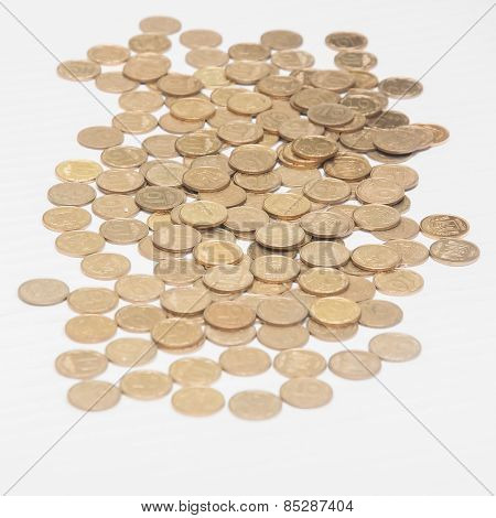 Pile Of Of Coins Ukrainian