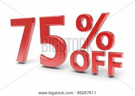75 Percent Discount