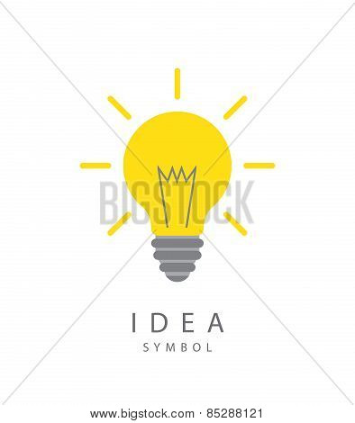 Light Bulb And Idea Concept Symbol.