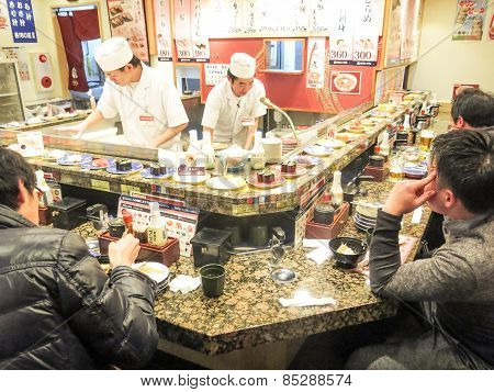 Sushi Restaurant In Tokyo