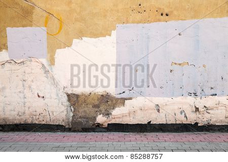 Abstract Empty Abandoned Urban Courtyard Fragment