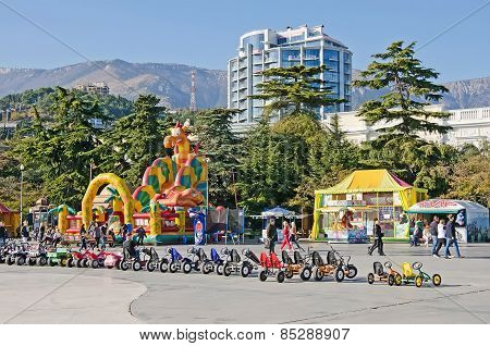 Entertainment For Children On The Waterfront In Yalta
