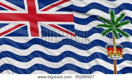 3D British Indian Ocean Territory Flag