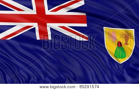 3D Turks and Caicos Islands Flag