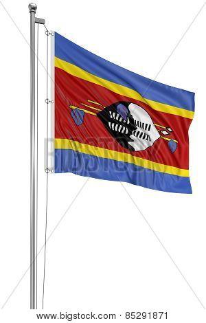 3D flag of Swaziland