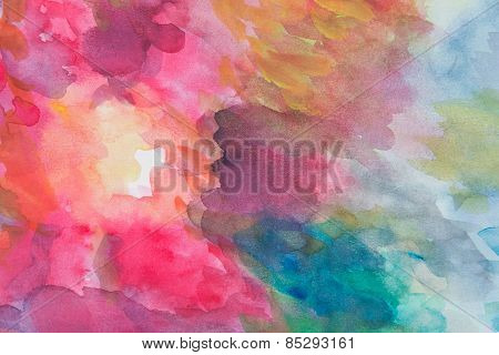 Abstract Water Color Background