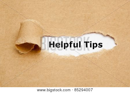 Helpful Tips Torn Paper