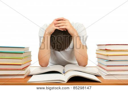 Sad Student With A Books
