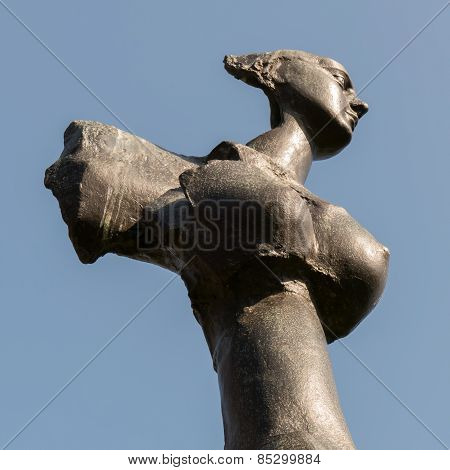 Netherlands - Wassenaar - Circa March 2015: Angel Statue From Caius Spronken.